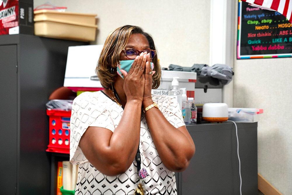 Colony Bend Elementary School teacher Rosa Castille