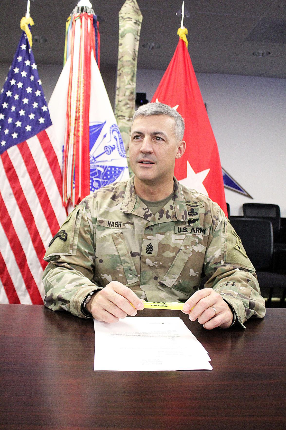 Command Sgt. Maj. Adam Nash