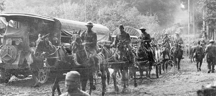 2nd Division Moving up for the Attack on July 18, 1918 (while under the ....jpg