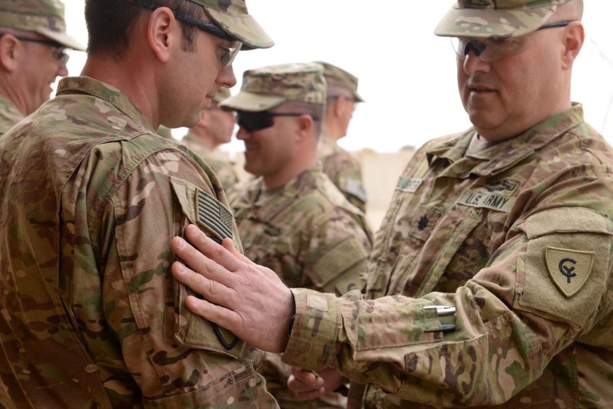38th Inf Guardsmen Receive First Team Combat Patch In Afghanistan