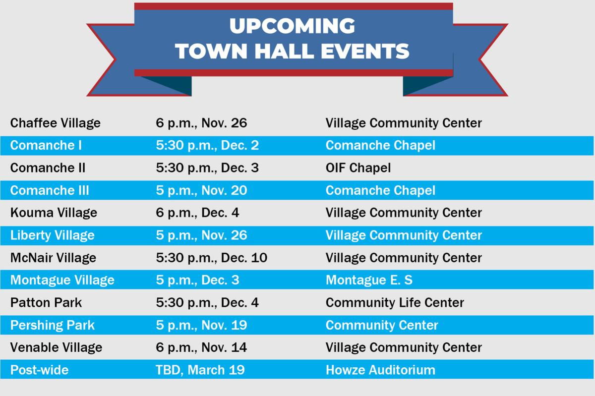Upcoming Town Hall events