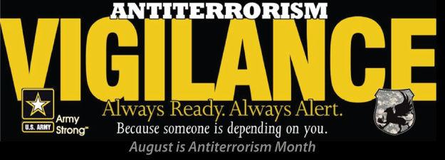August is Antiterrorism Awareness Month | Editorial | forthoodsentinel.com