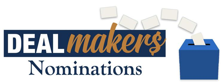 Franchise Times Dealmakers Nominations Illustration with ballots floating into a ballot box