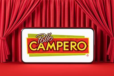 Pollo Campero logo on a small screen