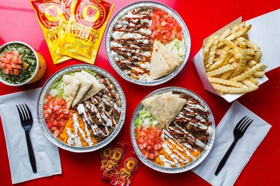 Halal Guys food platters