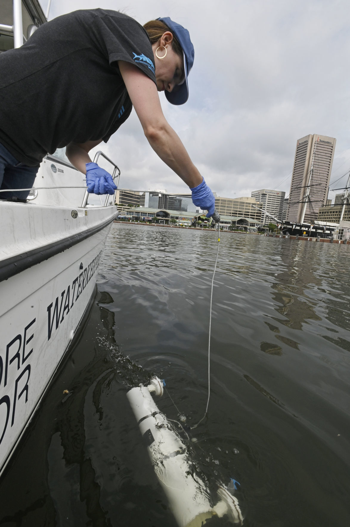 Scientists monitor water quality in Baltimore's Inner Harbor