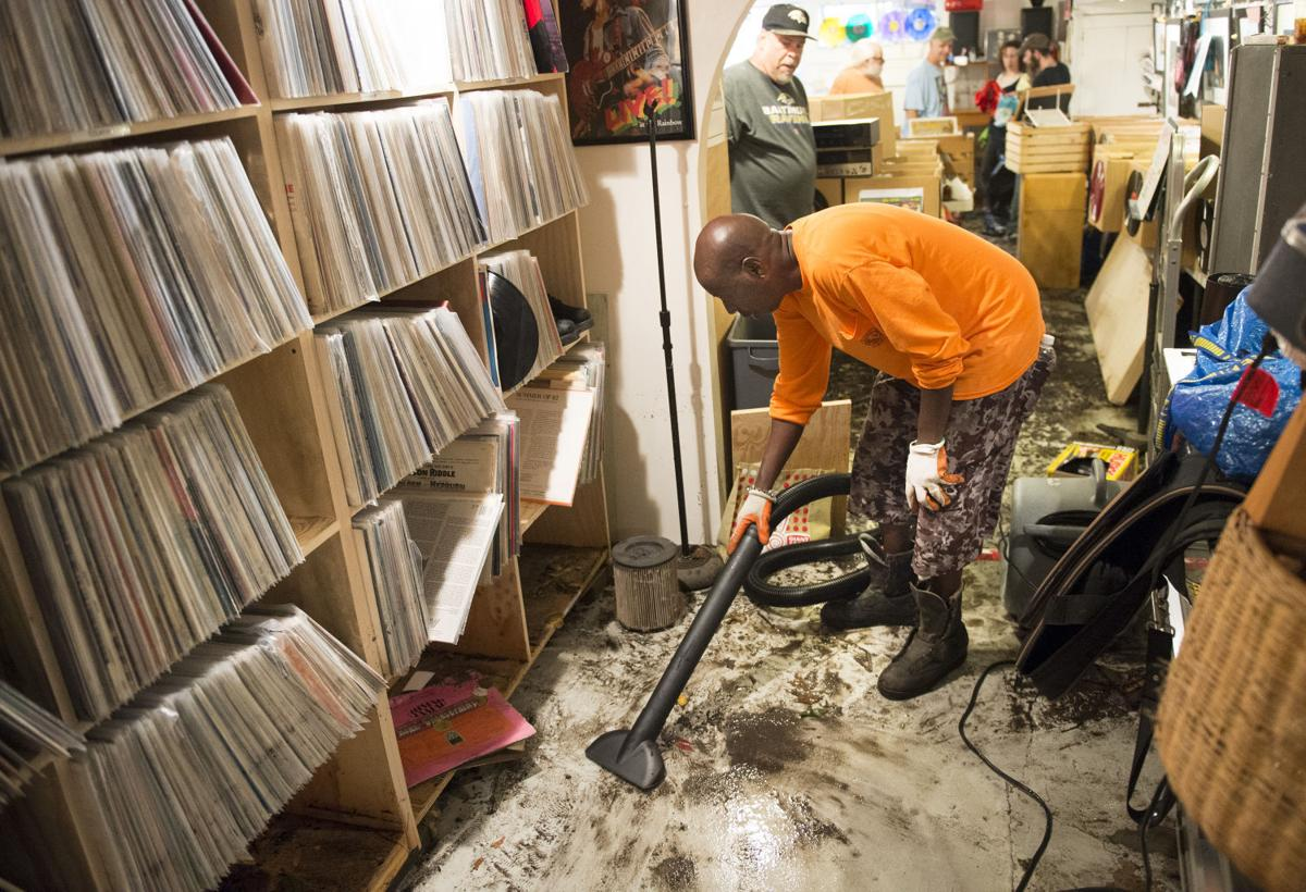 After Flood Damage Downtown Business Community Bands