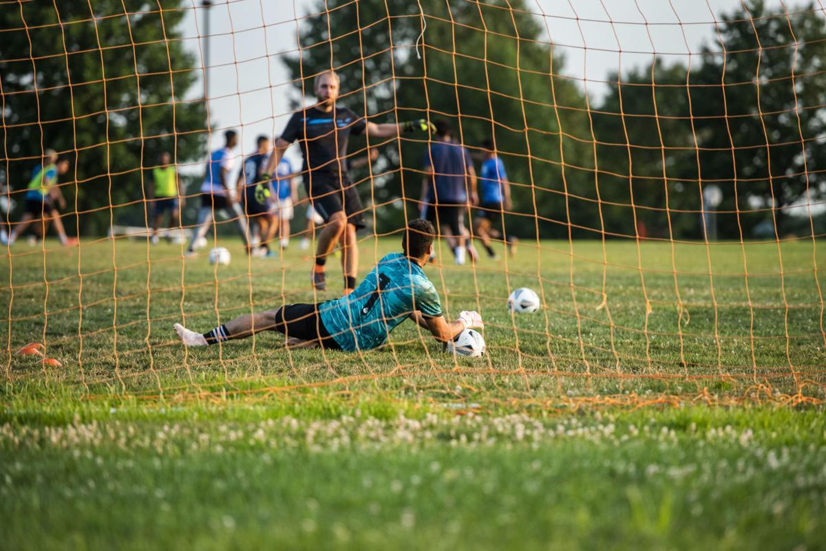 Semi-Pro Soccer Practice