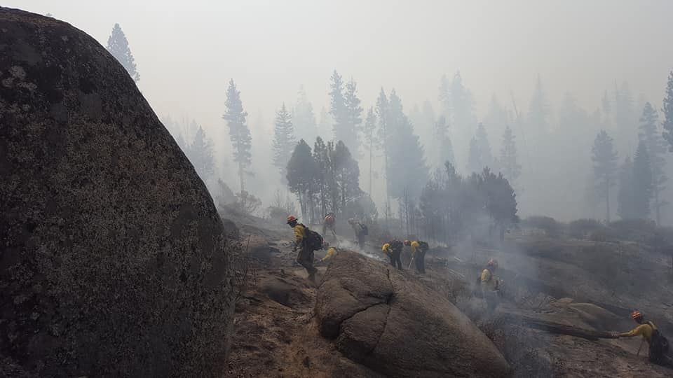 Wildfires hand crew in Wyoming