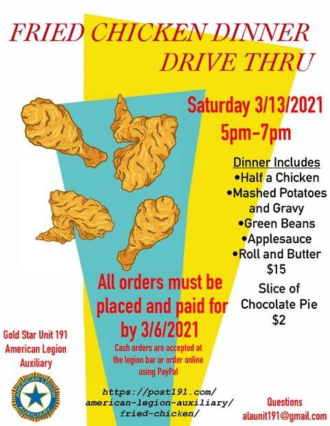 Fried Chicken Dinner Flyer