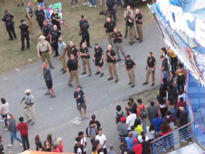 Police at Great Frederick Fair on Friday