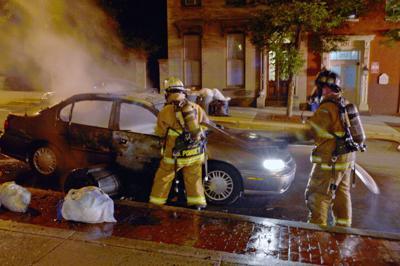 S Market St car fire