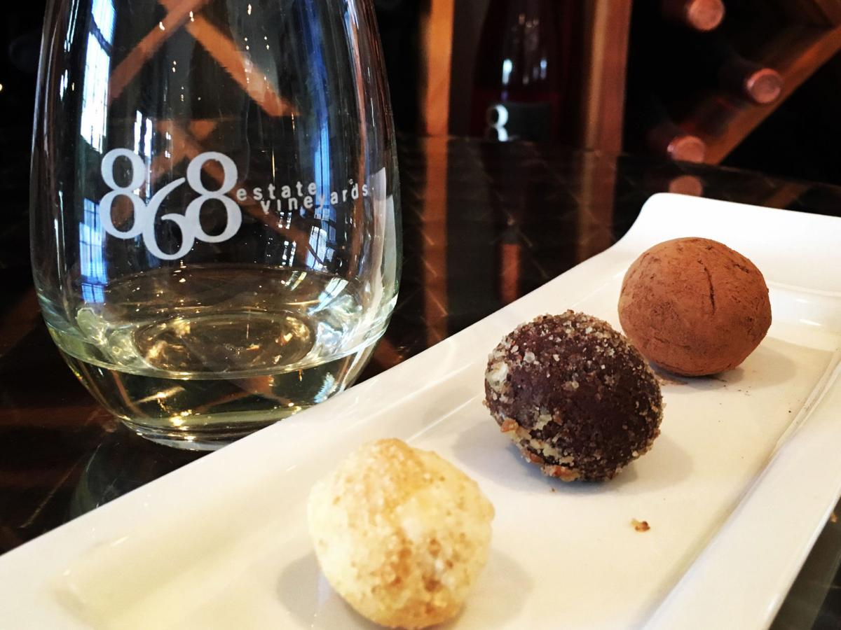 Truffles with wine