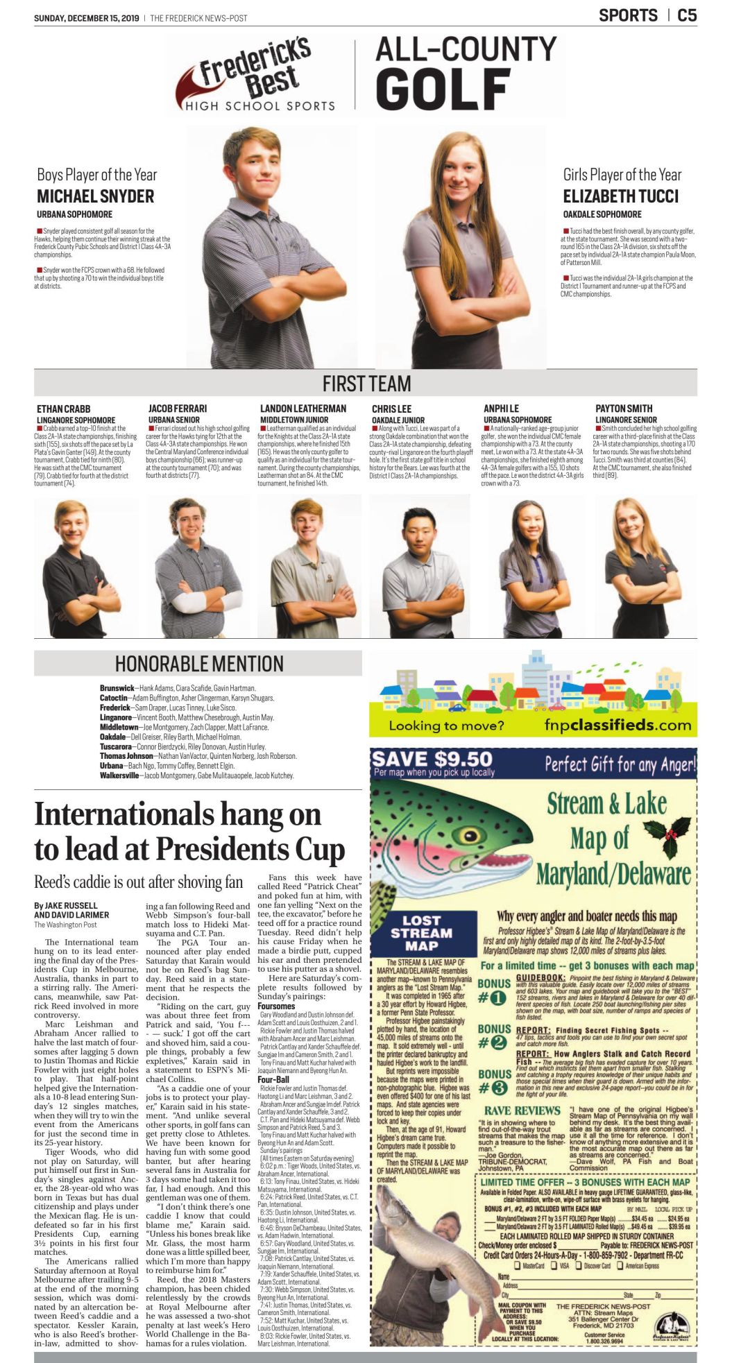2019 All-County Golf