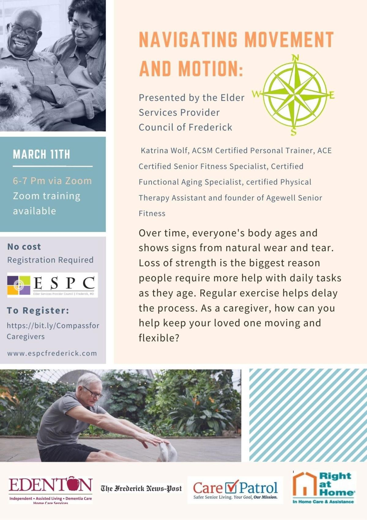 Compass for Caregivers March Flyer