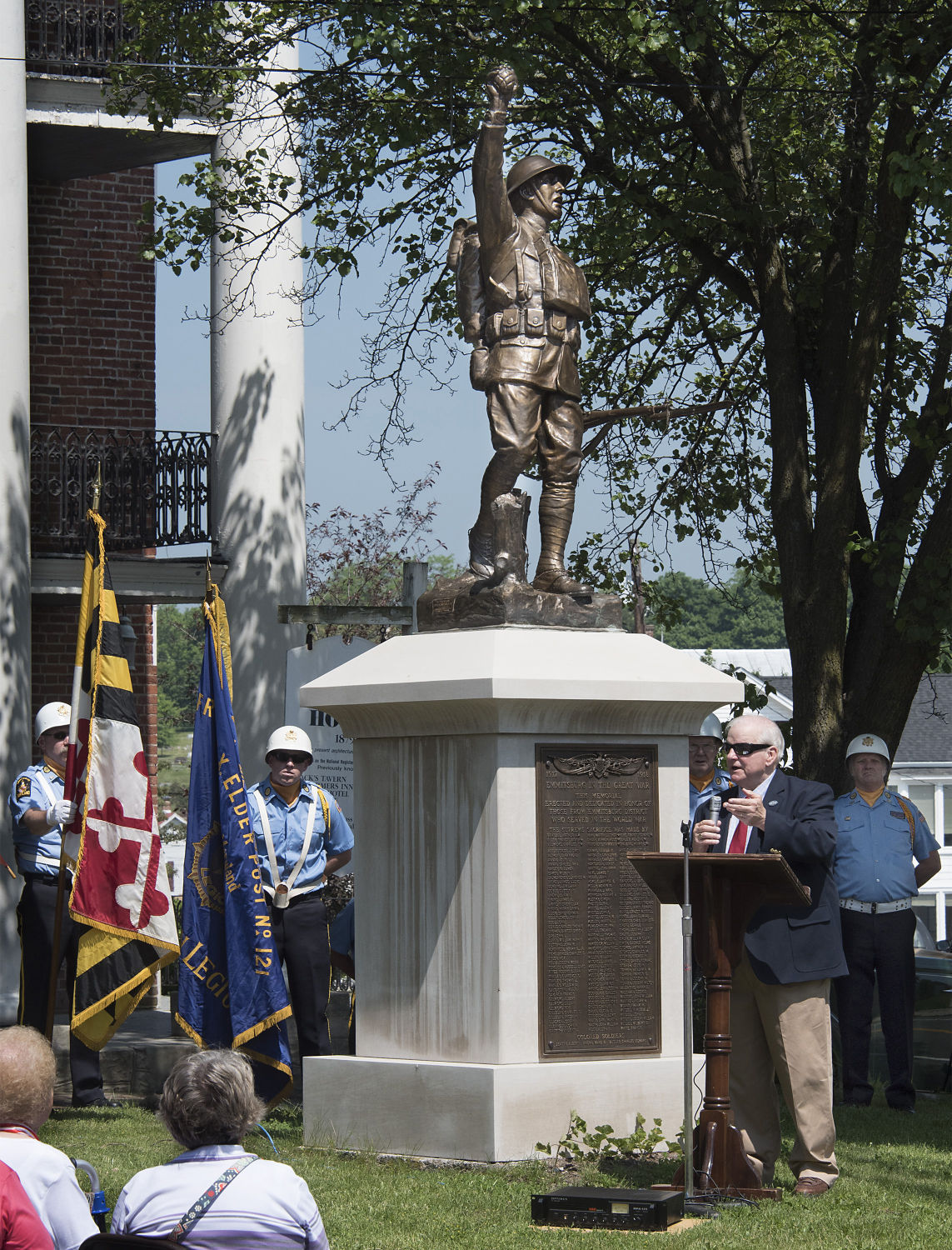 Rededication of the Doughboy Statue in Emmitsburg