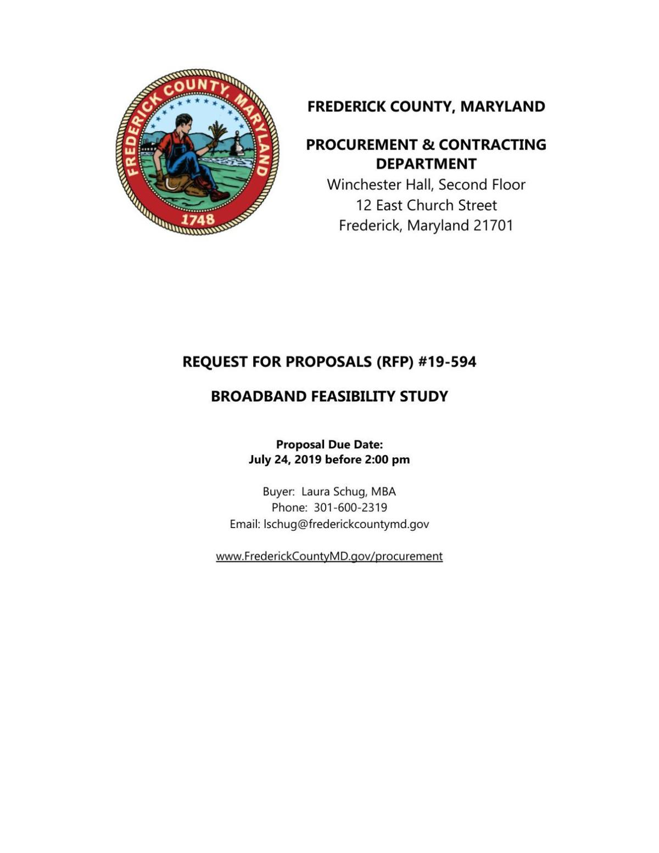 Rural Broadband Feasibility Study RFP