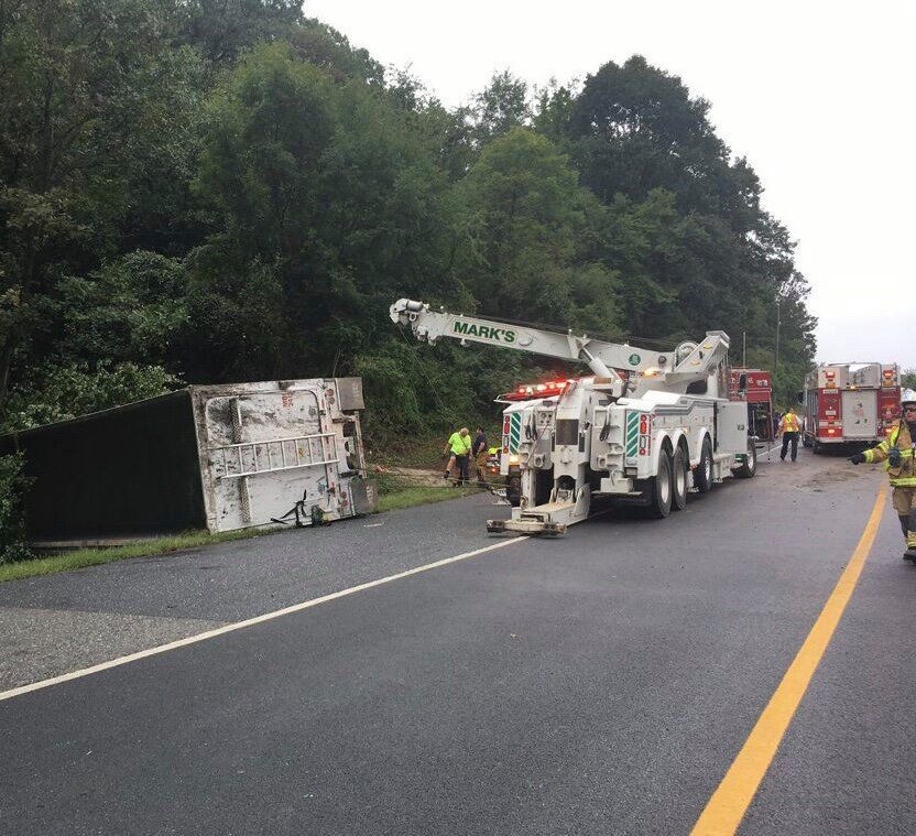 Truck driver pinned inside vehicle for 90 minutes not