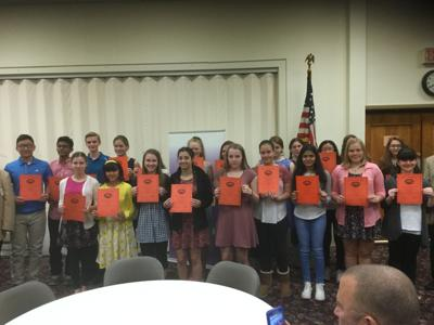 BPOE Frederick Lodge 684 honors middle school students for community service
