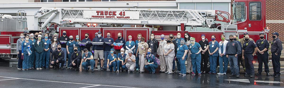 Firefighter Feed Nurses