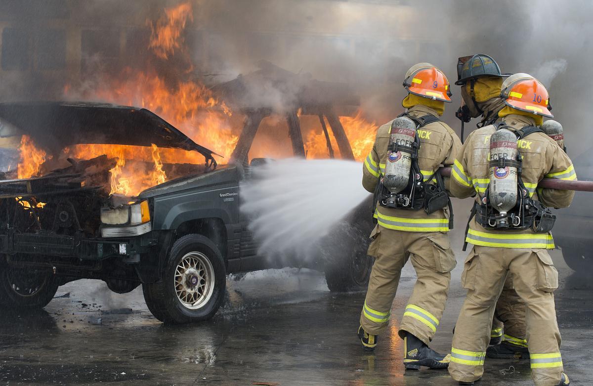 DG FC Fire Academy car and dumpster fires 1