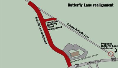 BUTTERFLY LANE1001 realignment map