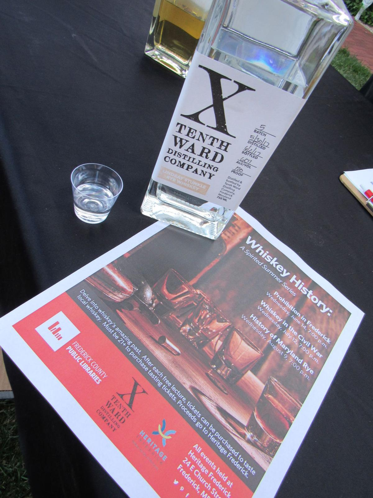 tenth ward whiskey and flyer