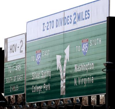 DG Highway sign with 270 and 495 logos 2 use