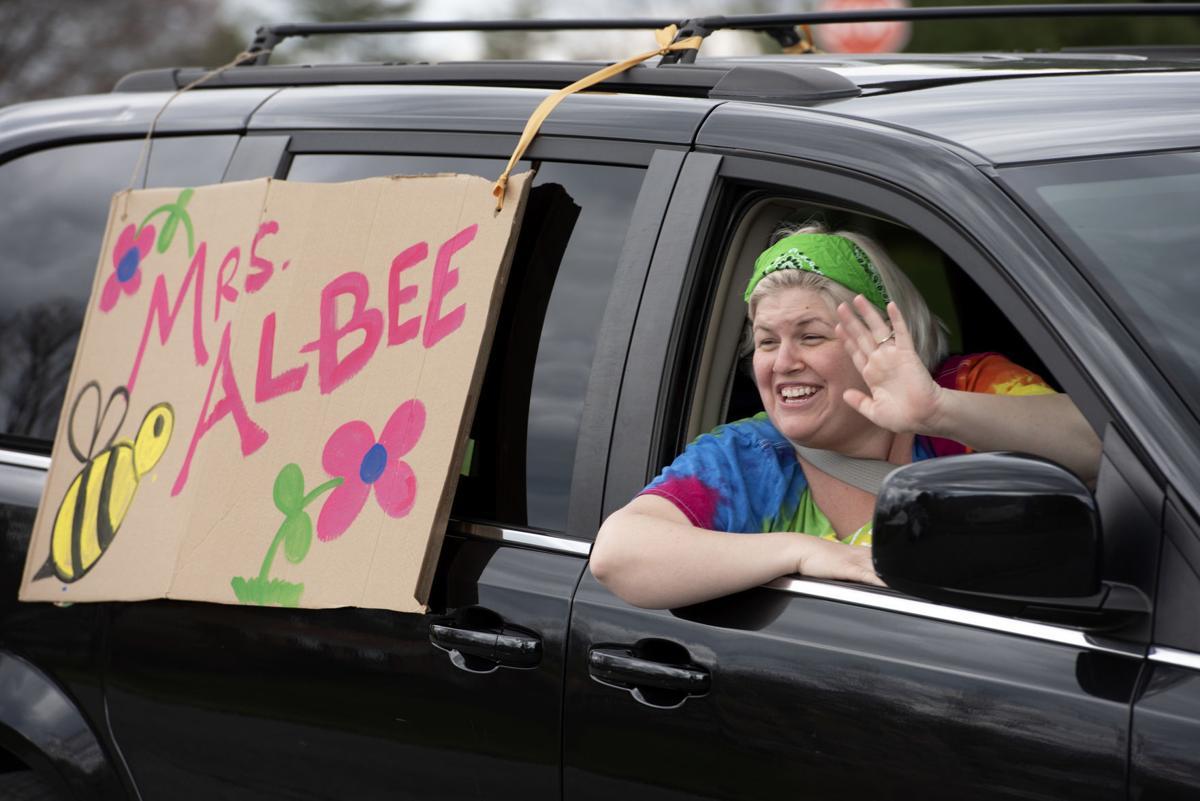 Teacher car parade