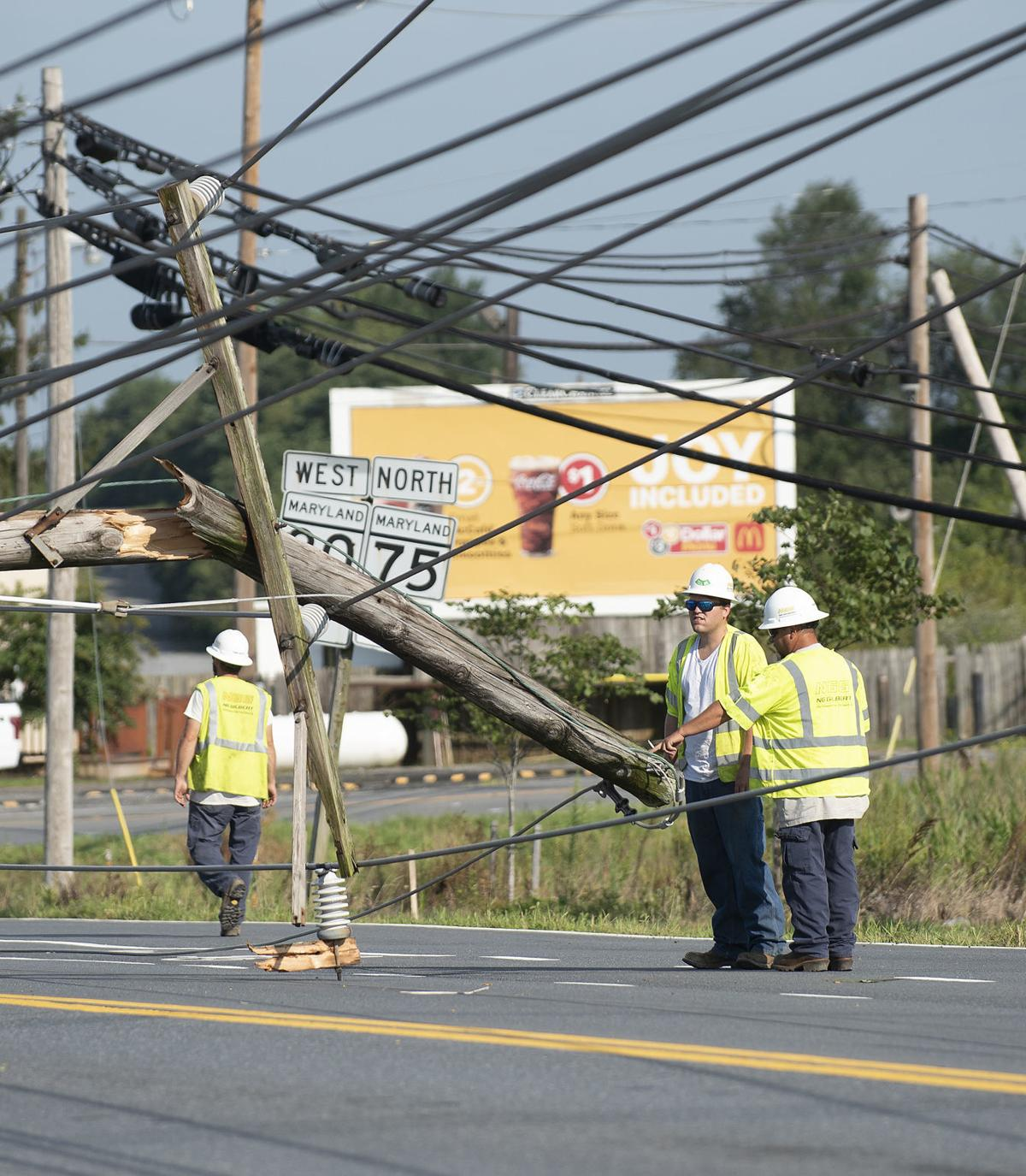 Power lines down storm damage 6