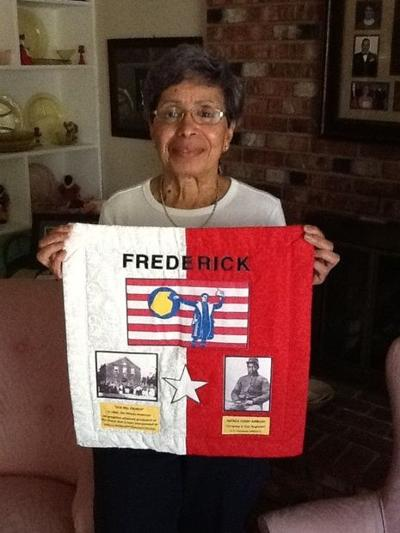 A piece of Frederick displayed on statewide quilt project