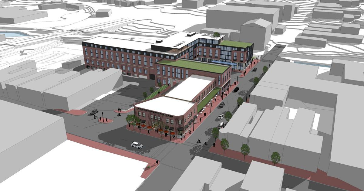 Proposed Downtown Hotel at Carroll Creek from northwest