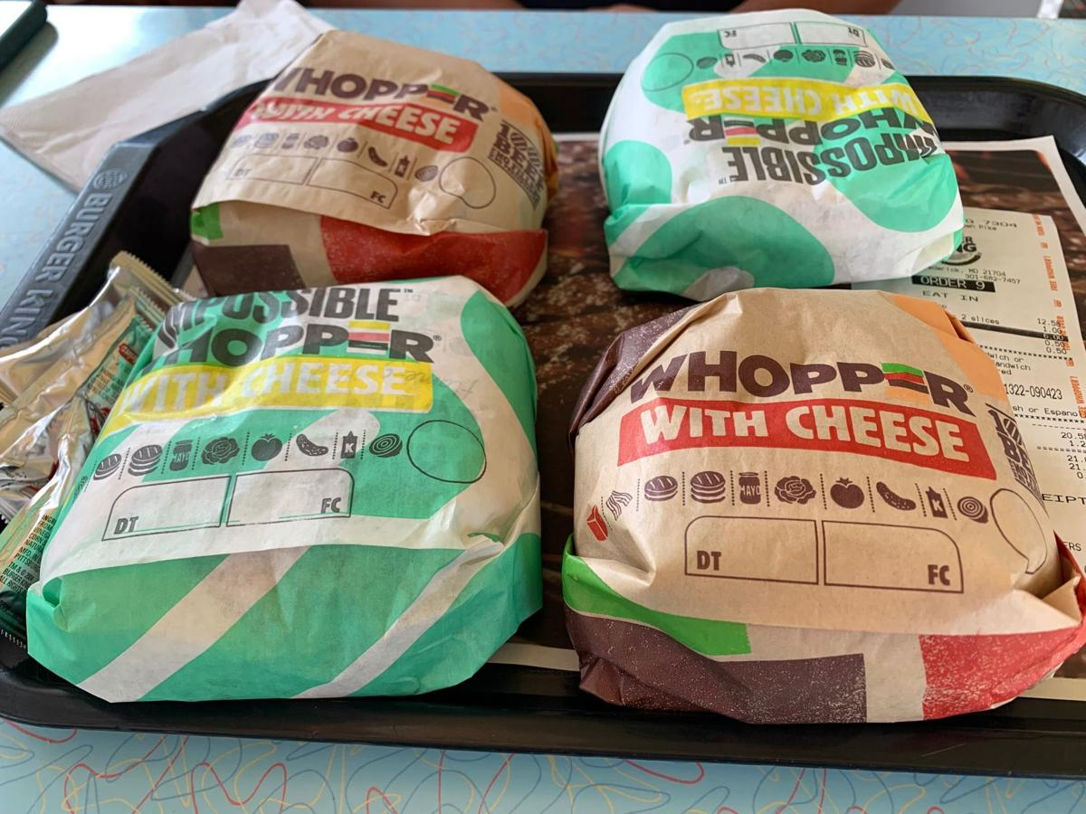Quarter of Impossible and regular Whoppers.jpg