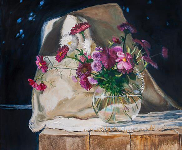 """""""Bouquet on the Porch"""" by Lynne Oakes"""