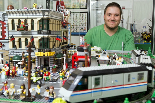 Childhood toys morph into giant Lego display at museum | Arts ...