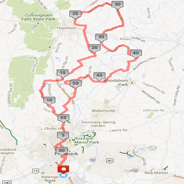 Tour De Frederick Routes