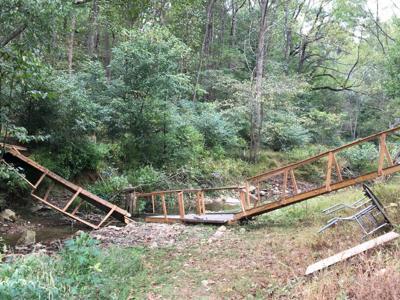 Walking bridge collapse