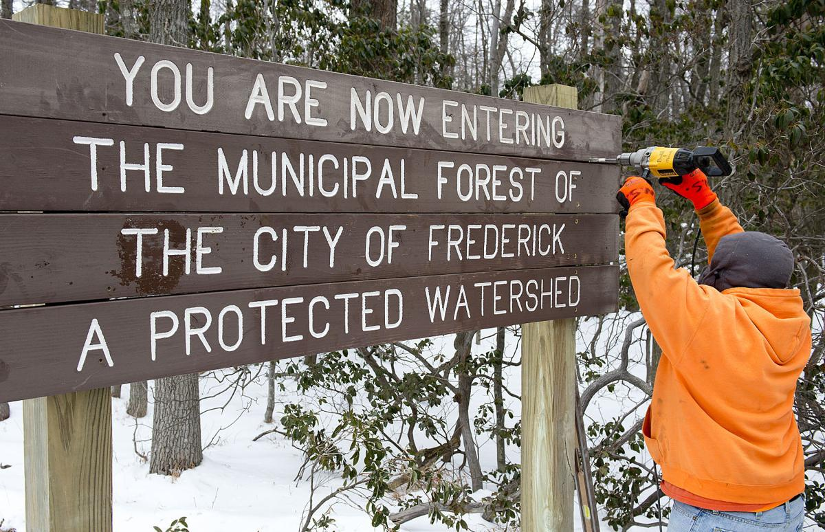 Frederick City Watershed signs installed