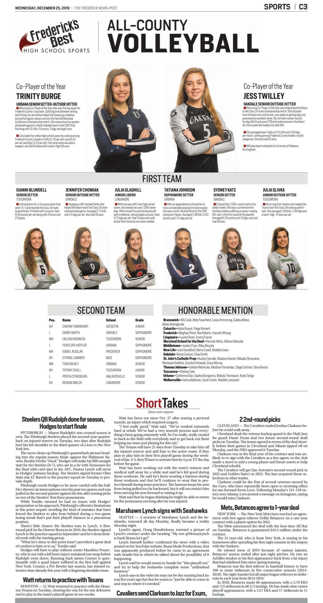 2019 All-County Volleyball