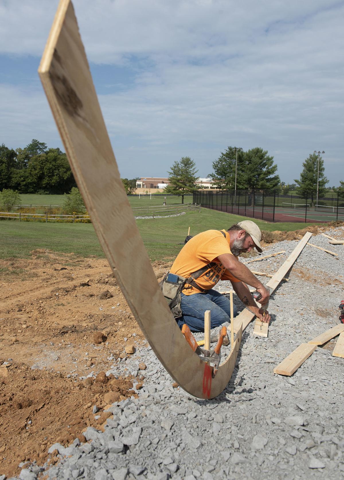 New pump track in Urbana 1