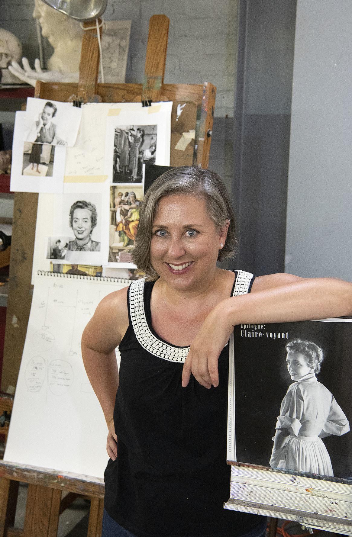 Sarah Hempel Irani in her studio 1