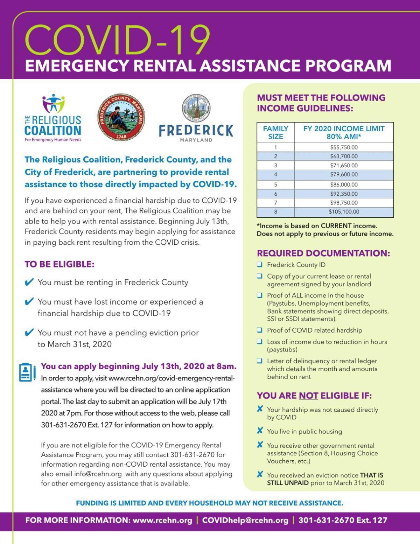 Rental Assistance Program info
