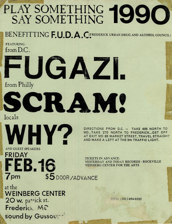 30 years ago, Fugazi blew up the paradigm at the Weinberg