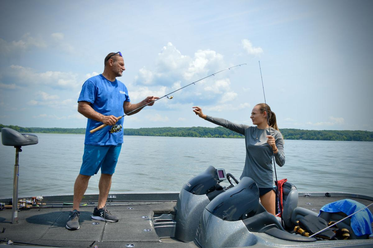 Father-daughter fishing duo
