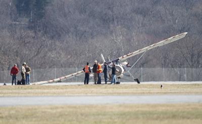 Plane crash at Frederick Municipal Airport