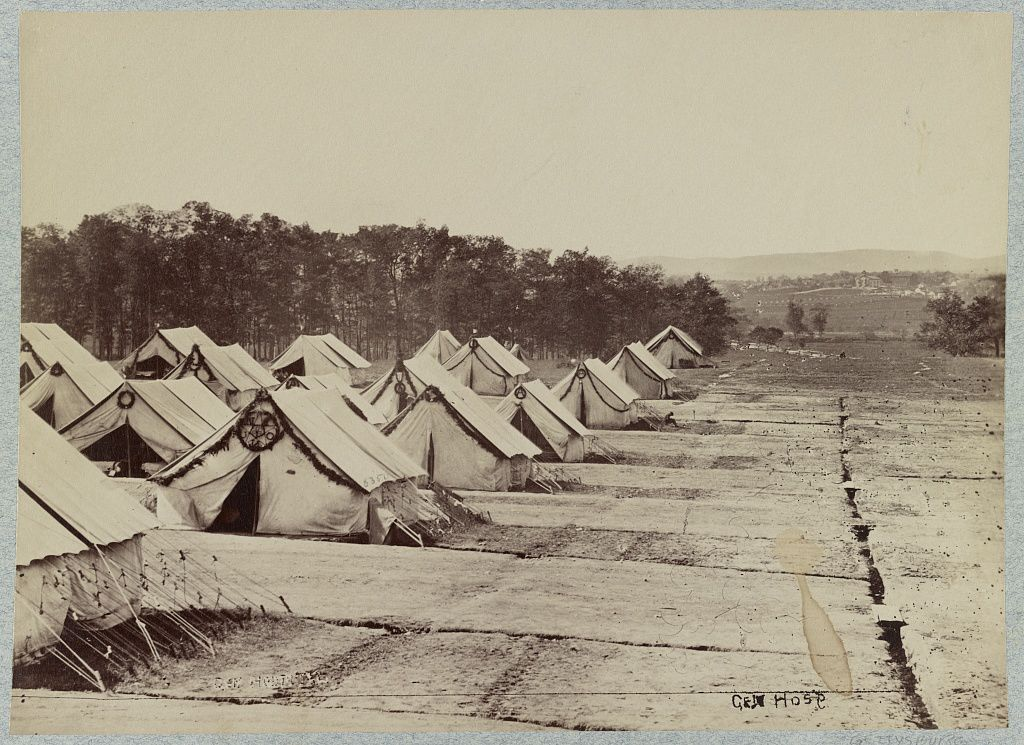 Camp Letterman located in Gettysburg after the battle