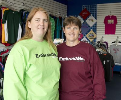 Amy Phillips and Angie Foster, owners of EmbroidMe
