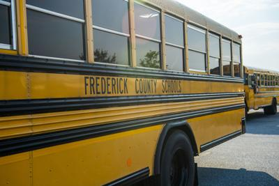 School Buses at Linganore High School (copy)