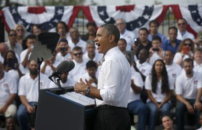 Barack Obama speaks in Rockville
