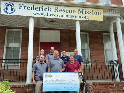 FOP donation to The Frederick Rescue Mission